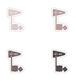 Set of paper stickers on white background North vector image