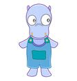 Hippopotamus cartoon vector image