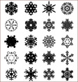 snowflakes on a white vector image vector image