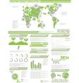 INFOGRAPHIC DEMOGRAPHICS POPULATION 2 GREEN vector image