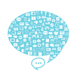 Bubble media icons vector image