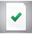 check symbol on paper vector image