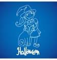 Children dressed to celebrate Halloween vector image