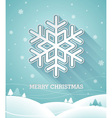 Christmas design with 3d snowflake vector image