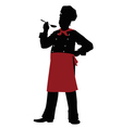silhouette Chef - vector image