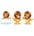 Lion Mascot pose vector image