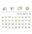 Social media and network color icons vector image vector image