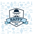 Happy Fathers day design vintage icon Colorful vector image