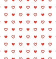 Red heart seamless pattern ornament background vector image
