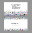 Colorful mosaic business card template design vector image