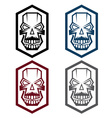 set of digital skulls vector image