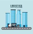 transport logistics vector image