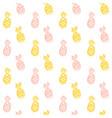 brush pineapple seamless pattern vector image