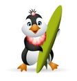 Penguin Surfer vector image