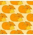funny Fox pattern vector image