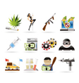 mafia and organized criminality activity vector image
