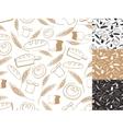 Vintage Bakery backgroundSeamless patternHand vector image