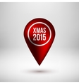 Red Bubble Map Pointer Badge vector image vector image