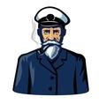 color captain icon vector image