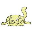 cute yellow at in love vector image