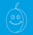 fresh smiling plum icon outline vector image