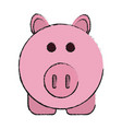 isolated pig design vector image