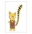 Lemur cartoon vector image