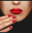 makeup and manicure vector image