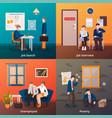 redundant workers design concept vector image