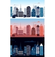Set of city landscapes vector image