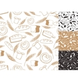 Vintage Bakery backgroundSeamless patternHand vector image
