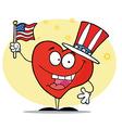 Patriotic American Heart vector image