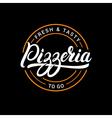 Pizzeria hand written lettering logo label badge vector image