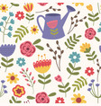 seamless pattern floral vector image vector image