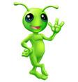 little green man alien vector image