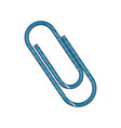 drawing blue clip metal office supply object vector image