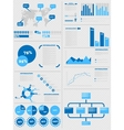 INFOGRAPHIC DEMOGRAPHICS 5 BLUE vector image vector image