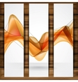 Abstract Orange Smooth Waves vector image vector image