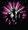 party people on a pink and black vector image