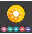 Sun badge flat icon sign set symbol vector image