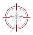 Fever mosquito species aedes aegyti in red aim vector image