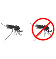 black silhouette mosquito drinks blood vector image