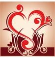 floral hearth vector image