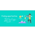 Man Finding Opportunities Concept vector image