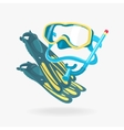 Mask and Fins Diving Set vector image