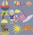 Set of summer design elements vector image