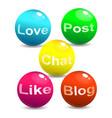 web social network concept vector image