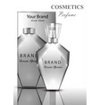women perfume bottle fragrance shiny transparent vector image