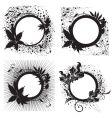 floral vintage black frames vector image vector image