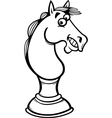 horse chess cartoon coloring page vector image